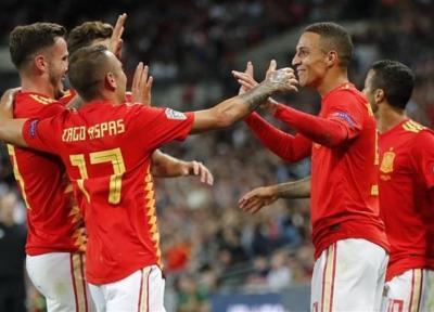 لیگ ملت های اروپا، برتری اسپانیا در خانه انگلیس در شب اهدای کفش طلا به کین